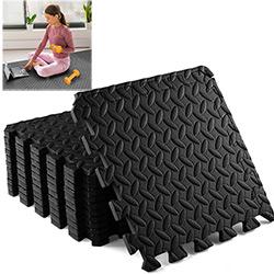 12 Dalles en Mousse 40x40 cm pour Sport Fitness - Tapis de Protection de Sol pour Musculation, Gym