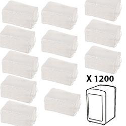 Recharge 1200 Serviettes Papier - Distributeur de Serviettes en Papier