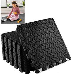 18 Dalles en Mousse 40x40 cm pour Sport Fitness - Tapis de Protection de Sol pour Musculation, Gym