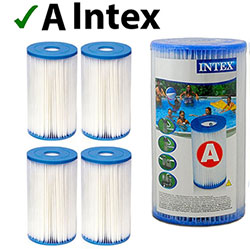 Lot de 4 Cartouches de Filtration Intex Type A