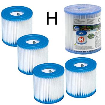 4 Cartouches de Filtration Intex Type H