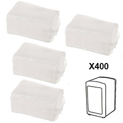 Recharge 400 Serviettes en Papier pour Distributeur