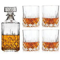 Service à Whisky avec Carafe et 4 Verres