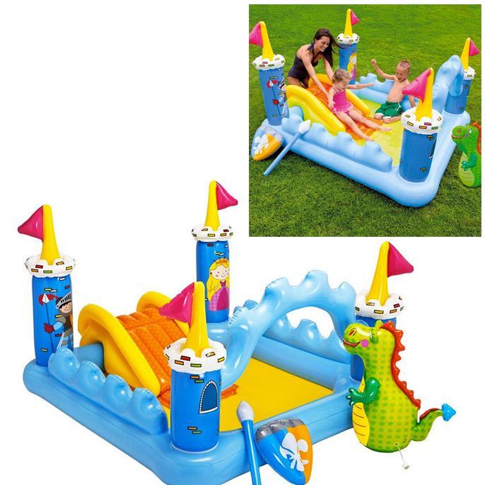 aire de jeu chateau m di val piscine gonflable enfant. Black Bedroom Furniture Sets. Home Design Ideas