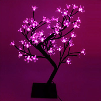 arbre lumineux led d 39 int rieur 48 led roses. Black Bedroom Furniture Sets. Home Design Ideas
