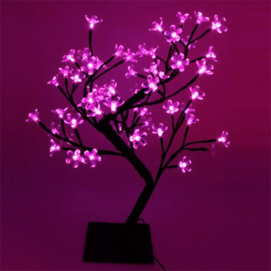 arbre lumineux led d 39 int rieur 48 led roses. Black Bedroom Furniture Sets. Home Design Ideas