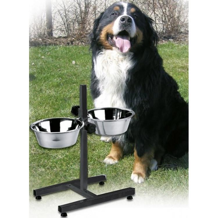distributeur de nourriture chien bar chien avec 2. Black Bedroom Furniture Sets. Home Design Ideas