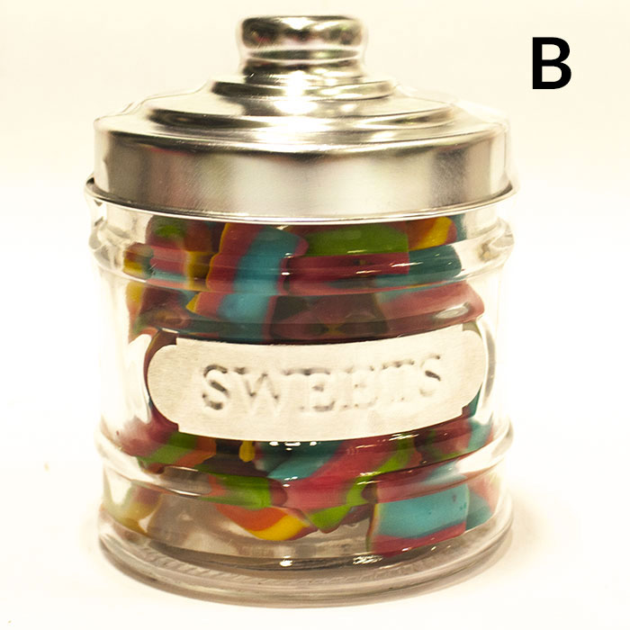 bocal bonbons en verre inclus bonbons. Black Bedroom Furniture Sets. Home Design Ideas