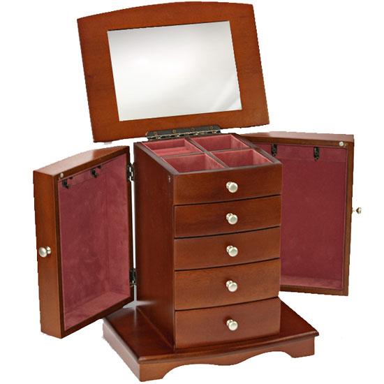 boite bijoux penderie en bois. Black Bedroom Furniture Sets. Home Design Ideas