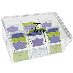 Boîte à Thé 6 Compartiments en plastique