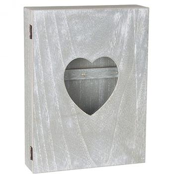 boite armoire cl s murale coeur avec vitre design coeur. Black Bedroom Furniture Sets. Home Design Ideas