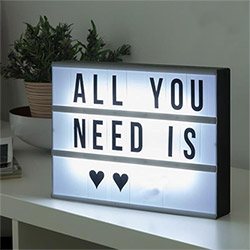 Boîte Lumineuse LED à Messages format A4 - 100 Pièces