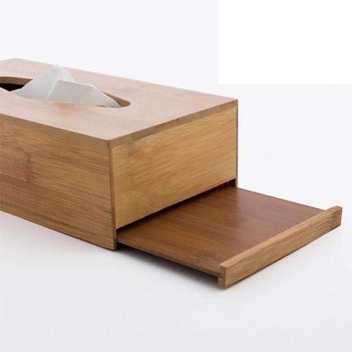 boite mouchoirs d co design en bois de bambou. Black Bedroom Furniture Sets. Home Design Ideas