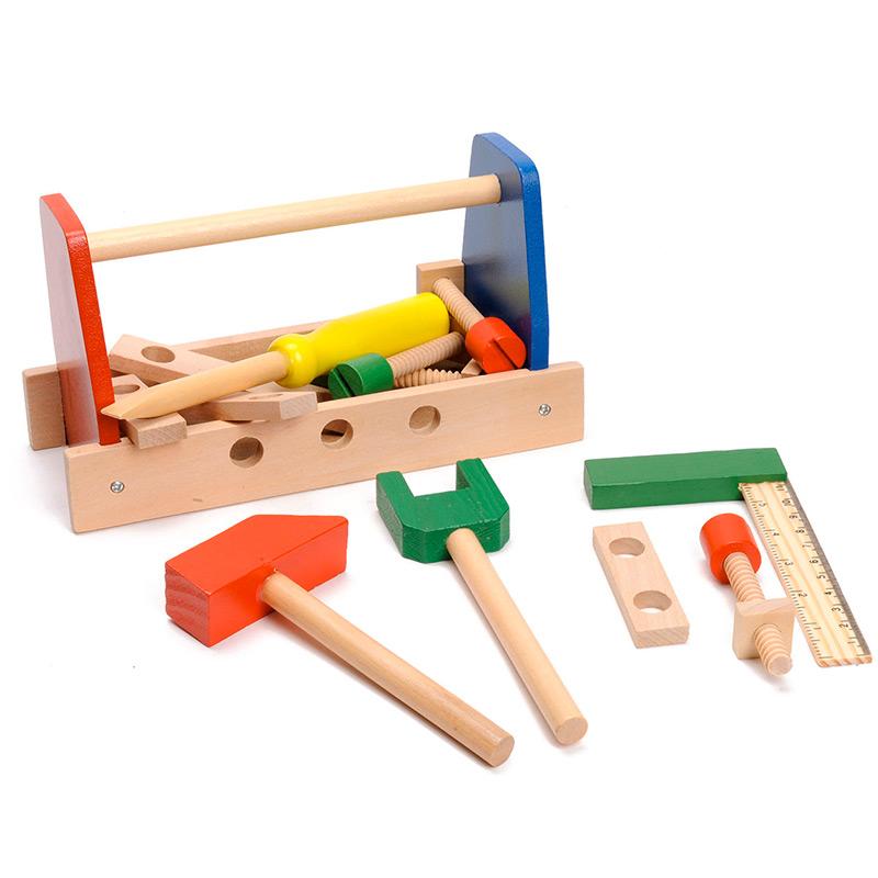 boite outils en bois pour enfant enfants loisirs et jeux. Black Bedroom Furniture Sets. Home Design Ideas