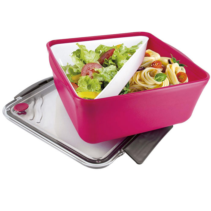 boite repas lunch box compartiment amovible ustensiles de cuisine cuisine. Black Bedroom Furniture Sets. Home Design Ideas