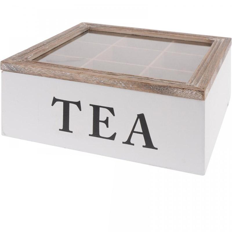 Boite th 9 compartiments tea art de la table cuisine - Boite a the 9 compartiments ...