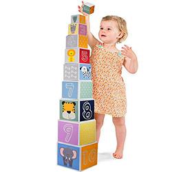 10 Cubes gigognes à Empiler pour Bebe - Enfant - Cubes emboitables empilables