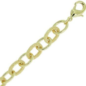 Bracelet Plaqué Or avec maillons ovales