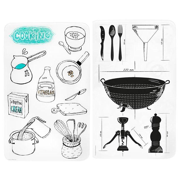 lot de 2 caches plaques de cuisson gaz induction lectrique. Black Bedroom Furniture Sets. Home Design Ideas