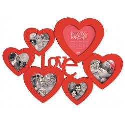 Cadre Photo Coeurs Love avec 6 photos