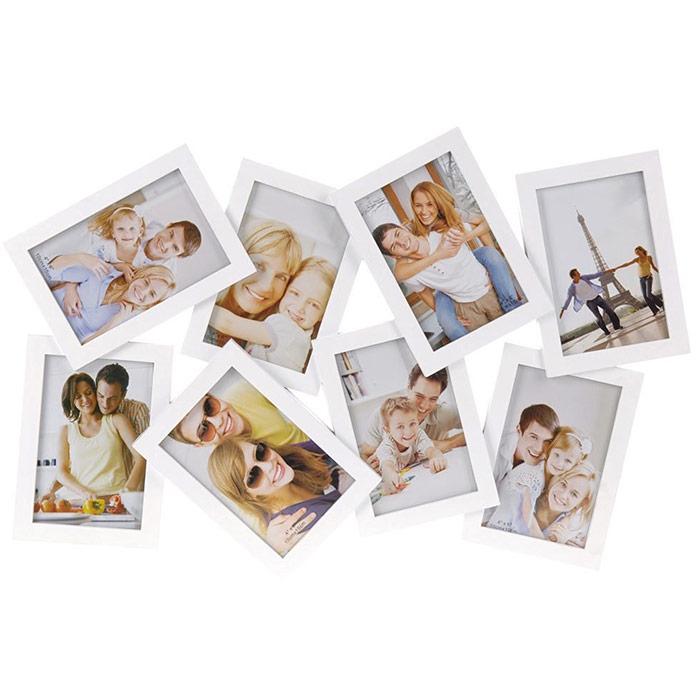 cadre photos pele mele avec 8 emplacements photos. Black Bedroom Furniture Sets. Home Design Ideas
