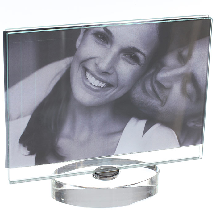 cadre photo en verre design pour photo 15 x 10 cm. Black Bedroom Furniture Sets. Home Design Ideas