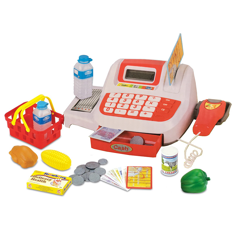 jeu caisse enregistreuse enfant jouet nombreux accessoires son et lumi re ebay. Black Bedroom Furniture Sets. Home Design Ideas