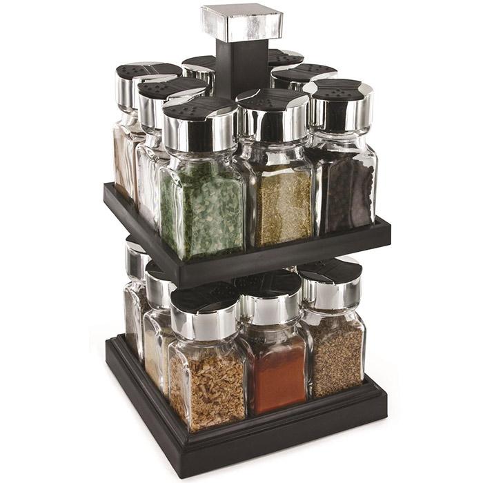 carrousel pices tournant deux tages 16 pots. Black Bedroom Furniture Sets. Home Design Ideas