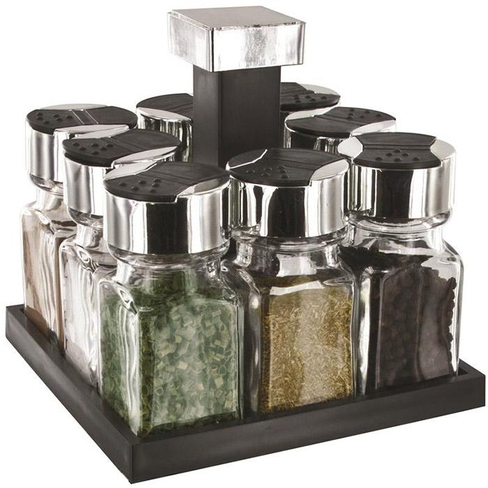carrousel pices tournant 8 pots en verre tr s design. Black Bedroom Furniture Sets. Home Design Ideas