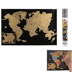 Carte du Monde à Gratter XXL 60X40 cm