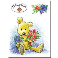Carte Métal Newton Fleurs 15x21 cm