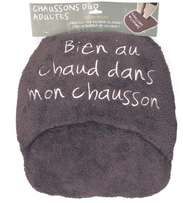 Maxi Chausson Duo Adulte - Coloris Taupe | Ebay