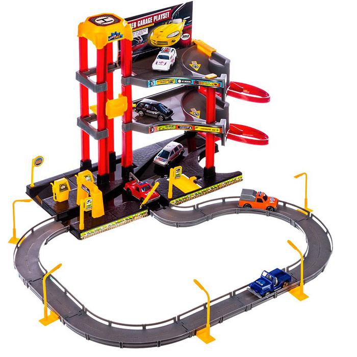 grand circuit de voiture garage city enfants loisirs et jeux. Black Bedroom Furniture Sets. Home Design Ideas