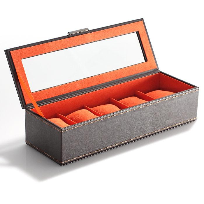 boite de rangement pour montres en simili cuir. Black Bedroom Furniture Sets. Home Design Ideas