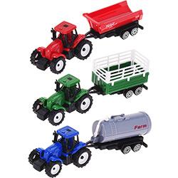 Coffret de 3 Tracteurs avec Remorques