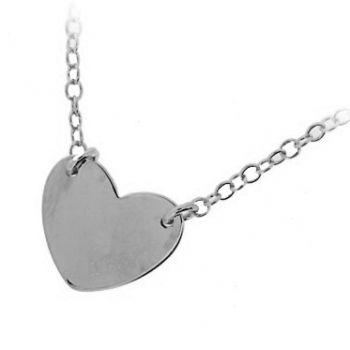 Collier Argent avec Coeur
