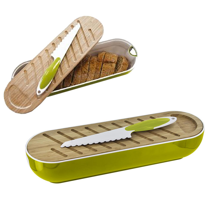 corbeille pain 3 en 1 avec planche d couper couteau. Black Bedroom Furniture Sets. Home Design Ideas