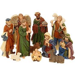 11 Figurines Crèche de Noël