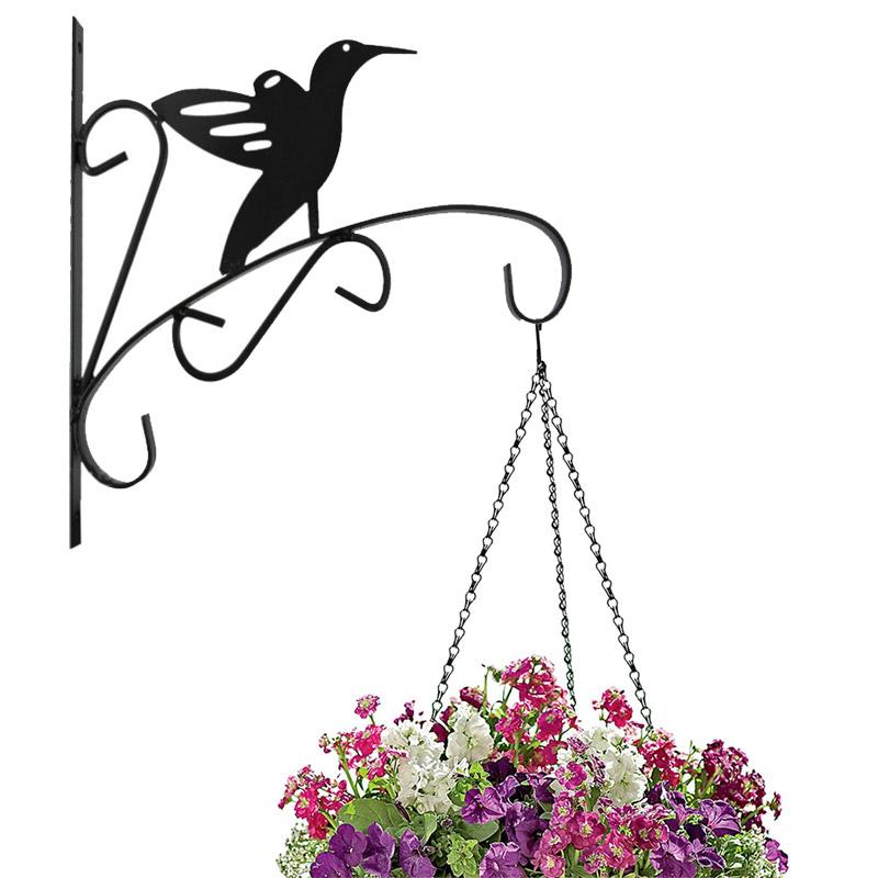 suspension murale crochet plante pot de fleur suspendu. Black Bedroom Furniture Sets. Home Design Ideas