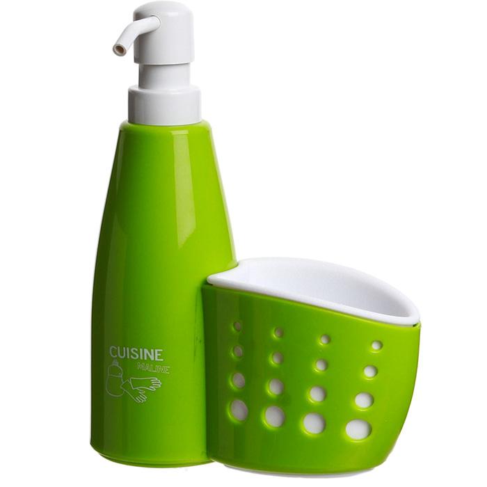 Distributeur de savon liquide et porte eponge vert ebay - Porte eponge et produit vaisselle ...