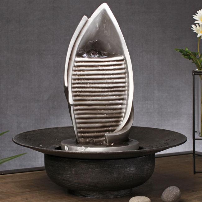 fontaine d corative argent e mur d 39 eau avec pompe en. Black Bedroom Furniture Sets. Home Design Ideas
