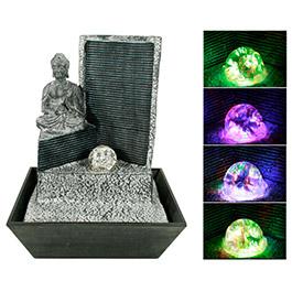 fontaine d corative d 39 int rieur bouddha lumineux. Black Bedroom Furniture Sets. Home Design Ideas