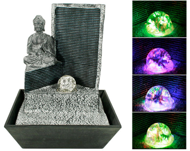 Fontaine d corative d 39 int rieur bouddha lumineux - Fontaine decorative d interieur ...
