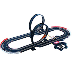 Grand Circuit de Voitures électriques 2 Grands Loopings + 2 Voitures