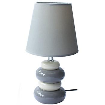 grande lampe 4 galets 31 cm gris violet marron blanc. Black Bedroom Furniture Sets. Home Design Ideas