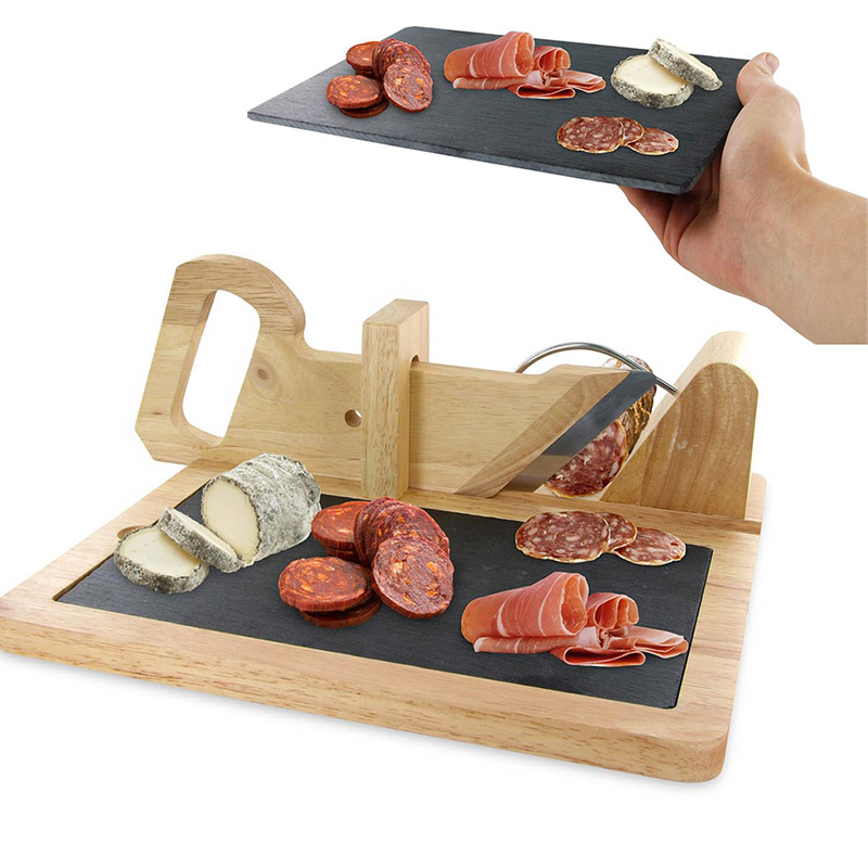 Trancheuse saucisson avec plateau en ardoise for Trancheuse cuisine