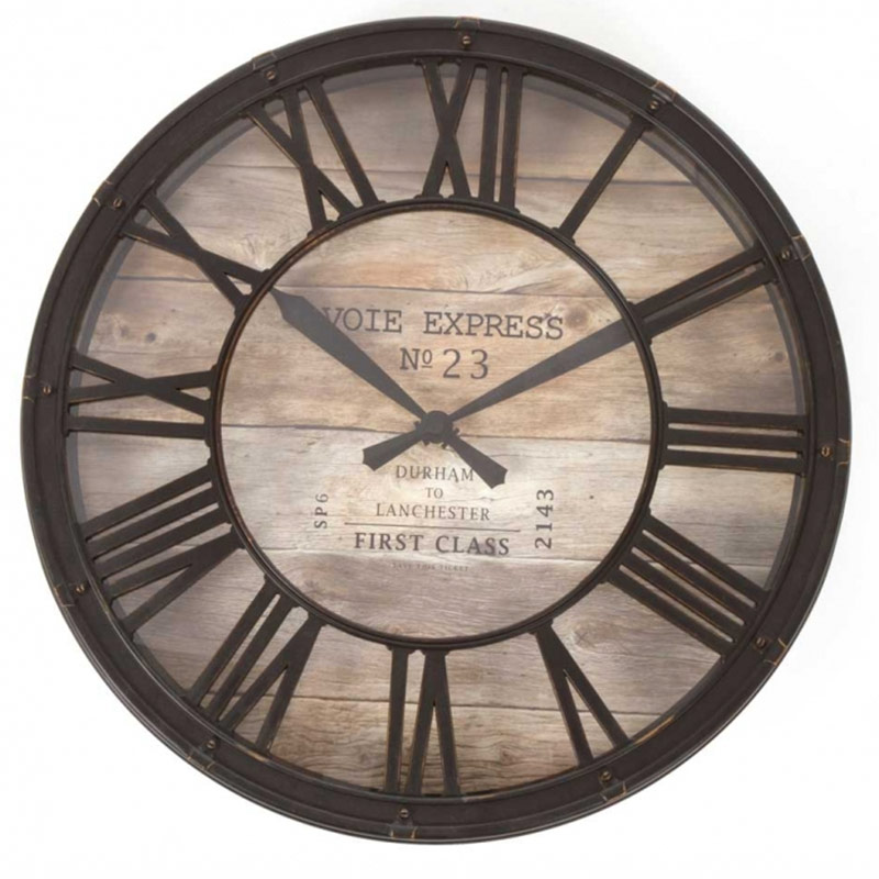 pendule horloge style horloge de gare. Black Bedroom Furniture Sets. Home Design Ideas