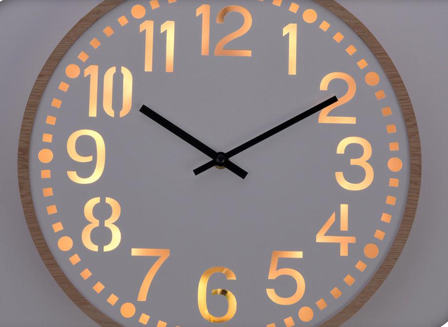 Emejing horloge murale lumineuse photos for Horloge lumineuse