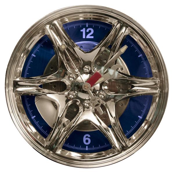 27 cm Out of the blue Horloge en mati/ère Plastique Jante avec LED Bleue