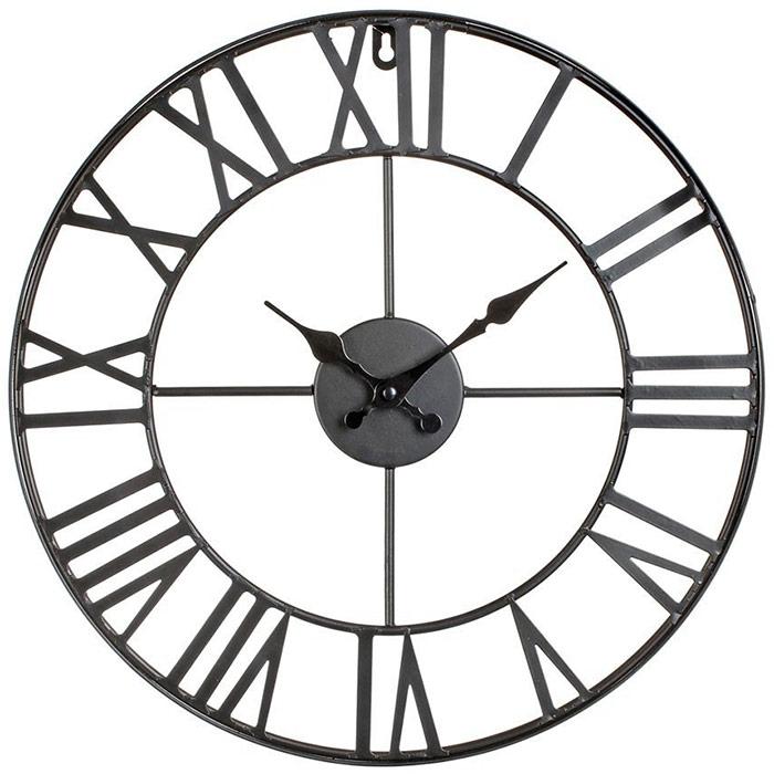 Horloge murale design vintage en m tal 40 cm for Horloge murale en metal